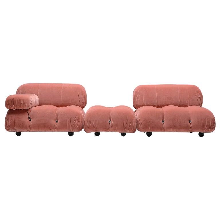Mario Bellini Camaleonda Modular Sofa in Original Rose Fabric For Sale