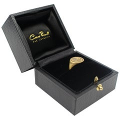Engraved WS William Shakespeare 20-Carat Gold Signet Ring