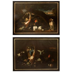 Pair of Large Still Life Oil Paintings Signed, G. Vincentini