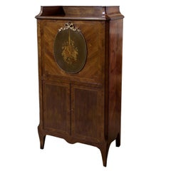 Louis XVI Style Kingwood and Marquetry Secretaire Abbatante or Desk