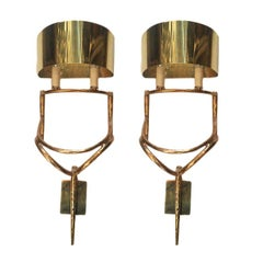 Pair of Moderne Style Sconces