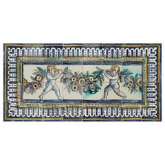 17th Century Portuguese Azulejos with Angels