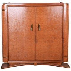 Unique Large Palisander Elm French Art Deco F. Pigeon Closet, Paris, 1920-1929