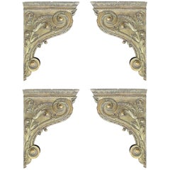 Set of Four 18th Century French Giltwood Corbels / Brackets