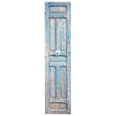 Single Panel Moroccan Wooden Door, Light Blue 23MO55