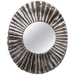 Stivale Ceramic Mirror in White Gold Glaze by Melissa Cromwell