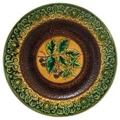 Majolica Blackberries Plate Villeroy & Boch, circa 1890