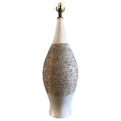 "Monumental ""Scratch"" Pattern Ceramic Table Lamp by David Cressey"