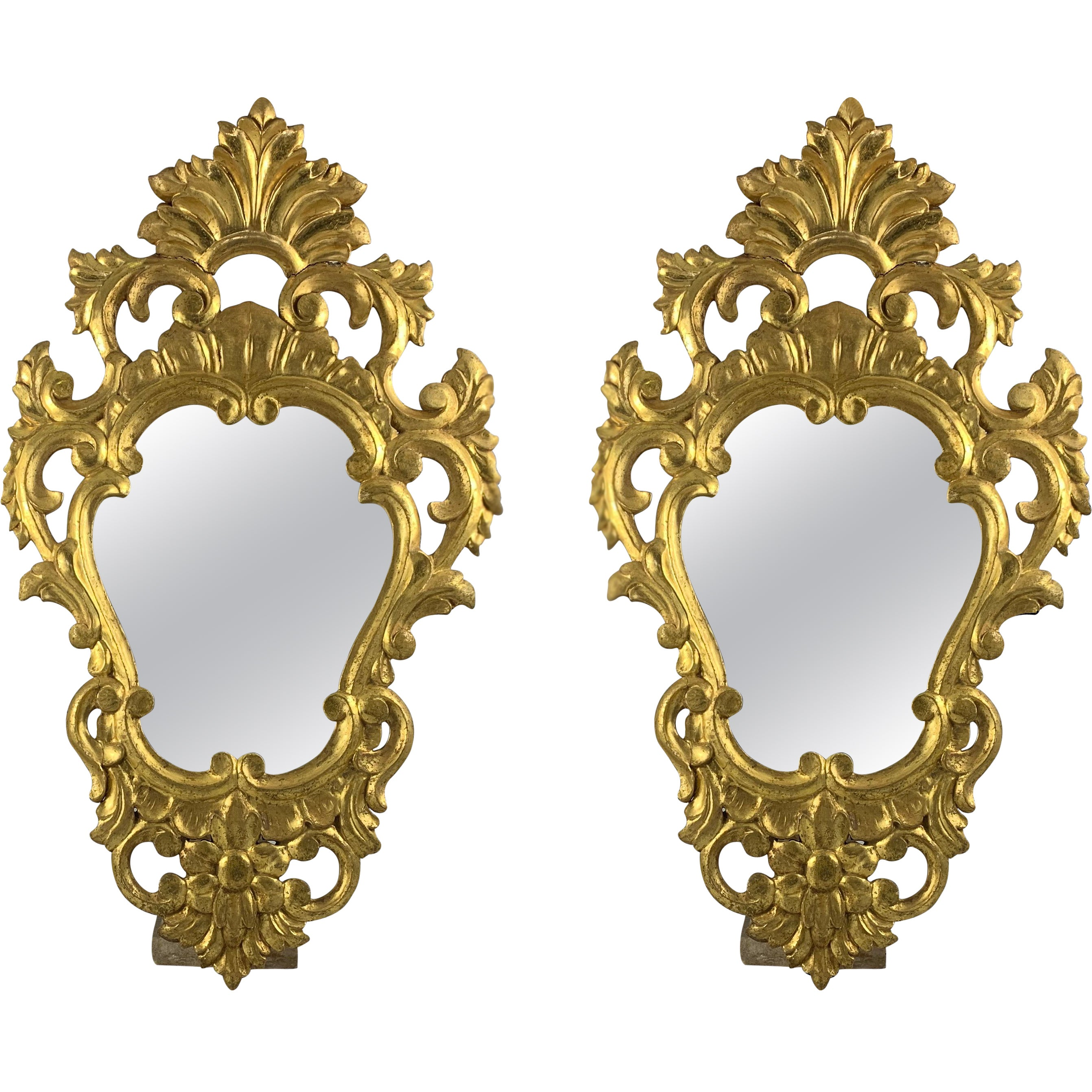 19th Century Pair of Gilt French Mirrors