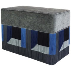 Couture Geometric Grey Giò Bench