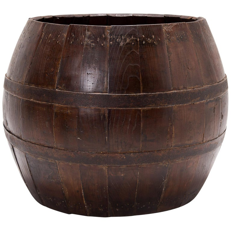 Early 20th Century Chinese Opera Drum Barrel For Sale