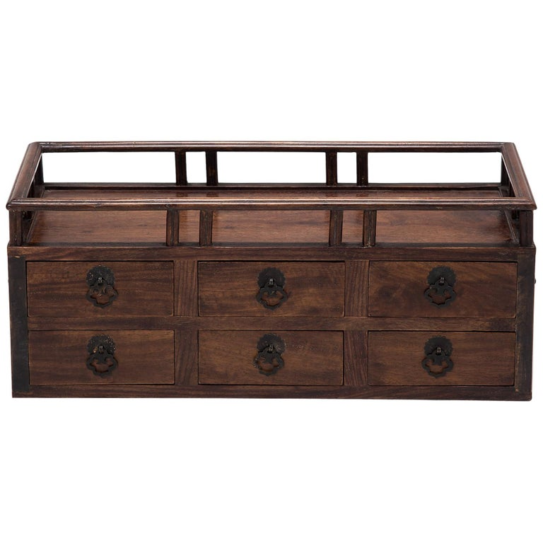 Early 20th Century Chinese Tabletop Scholars' Chest For Sale