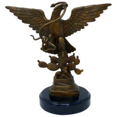 Mexico Republican Emblem Bronze Eagle Signed Carlos Espino Limited Edition