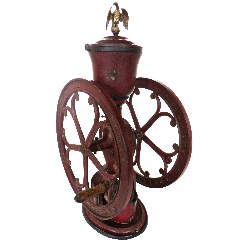 "Cast Iron Coffee Grinder, ""Elgin National Coffee Mill"", American, circa 1900"