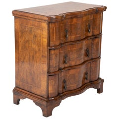 Italian Walnut Three-Drawer Chest of Drawers