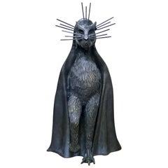 Gato De La Noche 'Night Cat' Surrealism Bronze Sculpture By Leonora Carrington