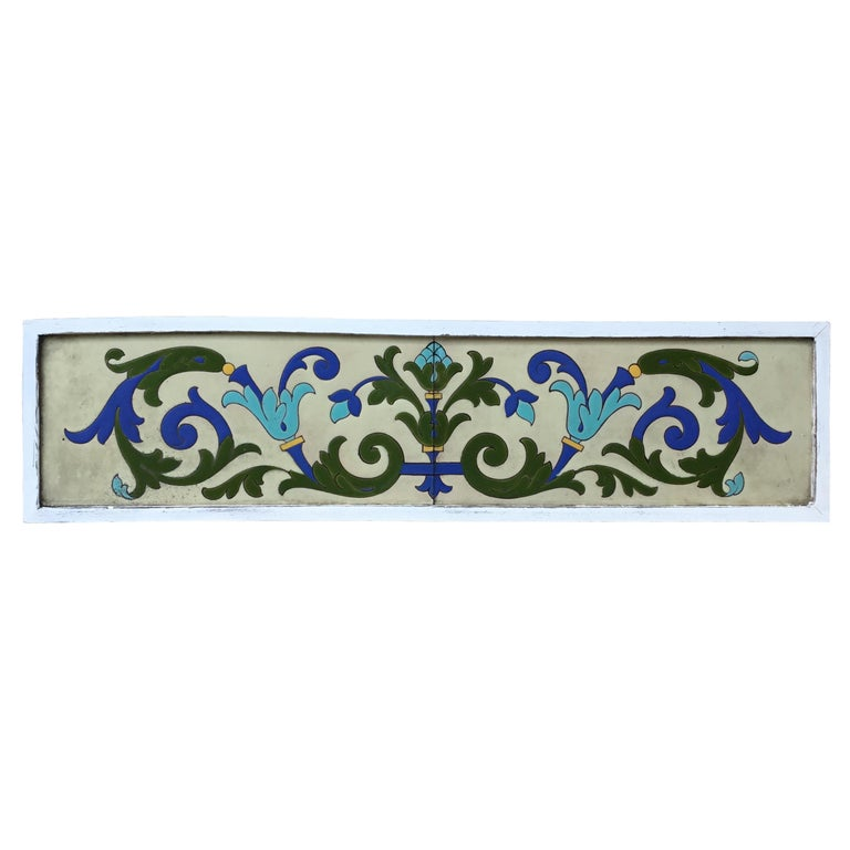 Large Antique Ceramic French Wall Hanging For Sale