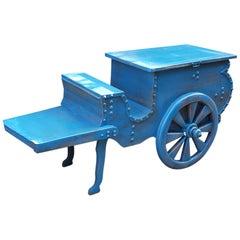 Moroccan Turquoise Decorative Bar Cart, 23MO53