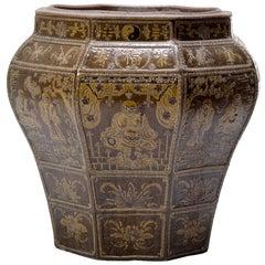 19th Century Grand Chinese Glazed Urn