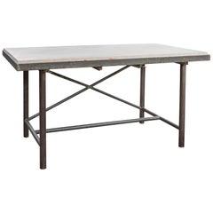 Marble Laboratory Table, France, circa 1920