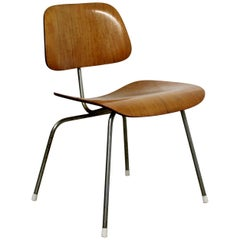 Mid-Century Modern Early Original Eames Herman Miller DCM Side Chair, 1950s