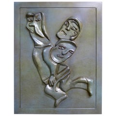 Metamorfosis Bronze Wall Sculpture by Jose Luis Cuevas Year, 2000