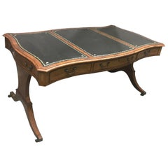 English George III Style Mahogany Desk, 19th Century