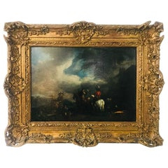 Early 18th Century Dutch Oil on Panel after Wouwerman