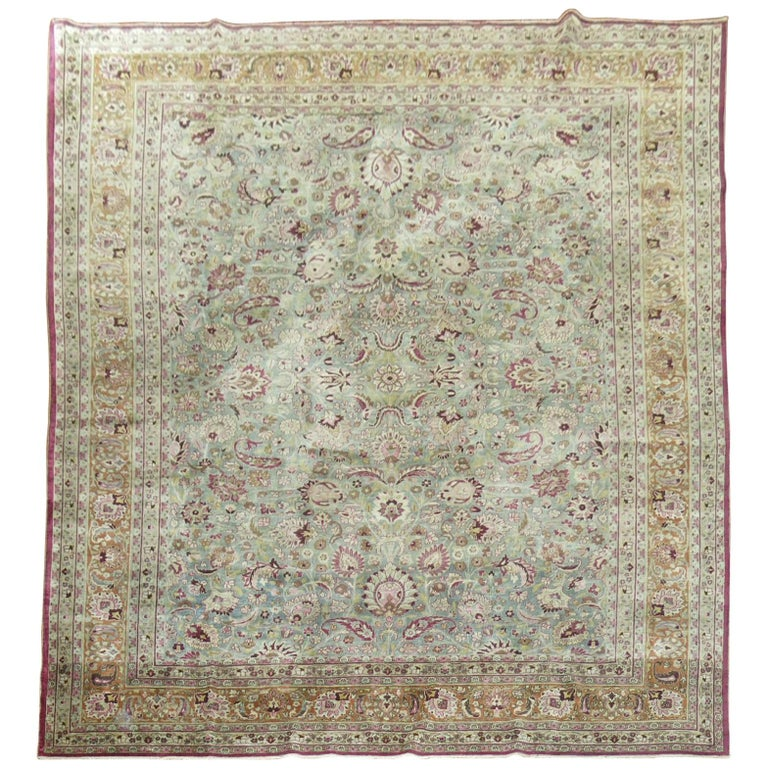 Antique Persian Meshed Rug For Sale
