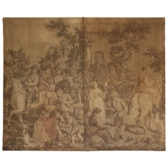 Large French Wall Tapestry, Gobelin