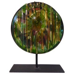 Mounted Glass Art Sculpture by British Columbia Artist Mary Filer