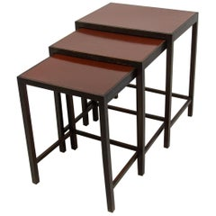 Modernist Nesting Tables H-50 Designed by Jindrich Halabala, Set of 3