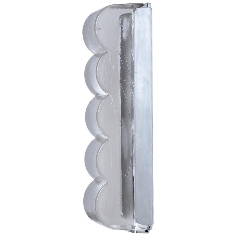 Drift Bump Contemporary Sculptural Cast Glass Wall Light Sconce For Sale