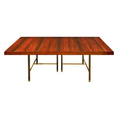 Harvey Probber Dining Table With 2 Leaves In Brazilian Rosewood 1950s (Signed)