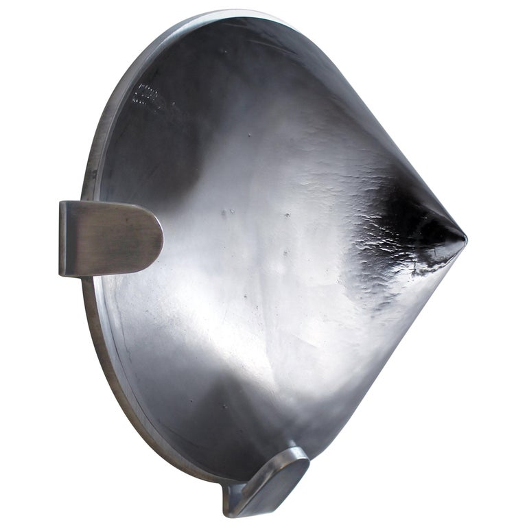 Drift Cone Contemporary Sculptural Cast Glass Wall Light Sconce For Sale