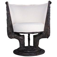 Paul Evans Sculpted Bronze Swivel Chair
