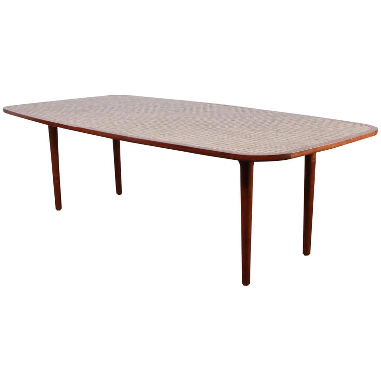 Tile Top Dining Table By Gordon And Jane Martz For