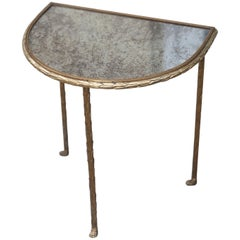 Maison Bagues Elegant Gilt Bronze Side Table France, 1940