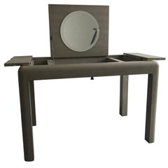 Grey Leather Dressing Table by Karl Springer