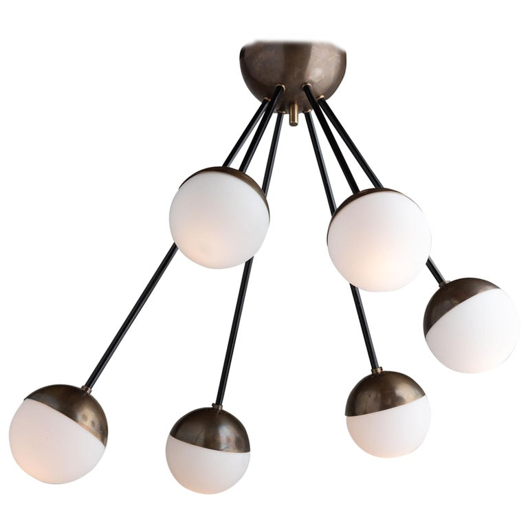 6-Globe Modern Chandelier, Italy, 21st Century For Sale