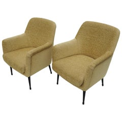 Nino Zoncada Midcentury Club Chairs from Stella, Maris ll Ocean Liner