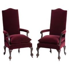 Pair of Ball and Claw Armchairs, England, circa 1890