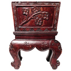 Chinese Decorative Lacquered Wood Jardinière, Qing Dynasty