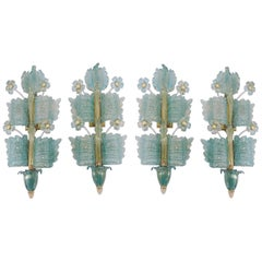 Barovier & Toso Set of 4 Wall Lamps ´Grand Hotel´