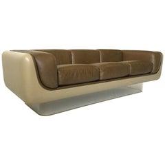 William Andrus Steelcase Leather Sofa