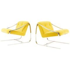 "Charles Gibilterra ""Plaza"" Lounge Chairs for Brueton"