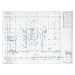 Original Mies van der Rohe Blueprint, 111 E. Wacker Chicago 1968 P-3 Level Plan