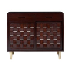 Dunbar Woven Front Credenza Chest by Edward Wormley