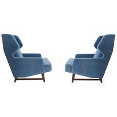 Dunbar Wing Back Lounge Chairs, Edward Wormley