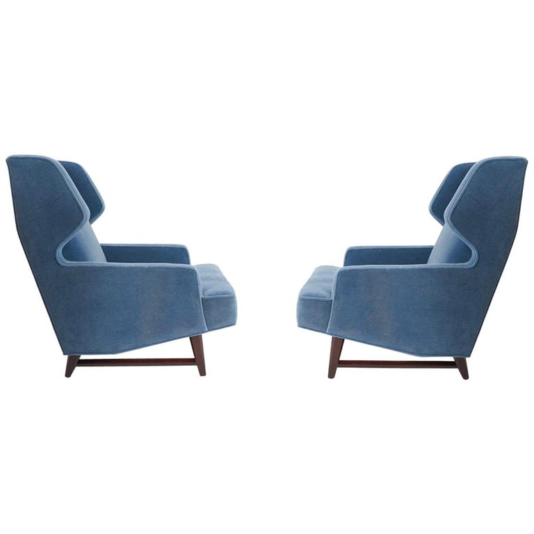 Dunbar Wing Back Lounge Chairs, Edward Wormley